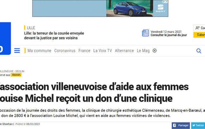 La Clinique Clemenceau à Lille s'engage pour aider les femmes victimes de maltraitance